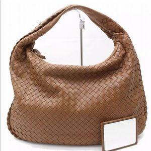 Auth Bottega Veneta Brown Shoulder Bag